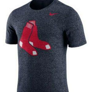 Nike Men's Boston Red Sox Marbled Short Sleeve L